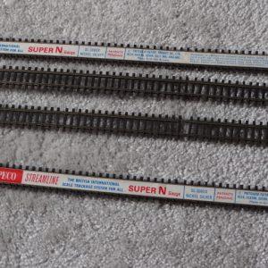 4 x Peco Streamline Super N Gauge SL-300XX Nickel Silver Track
