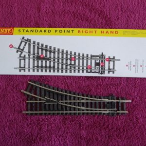 Track x 1 - R8073 Hornby OO Gauge Right Hand Standard Point - Made in China - Boxed