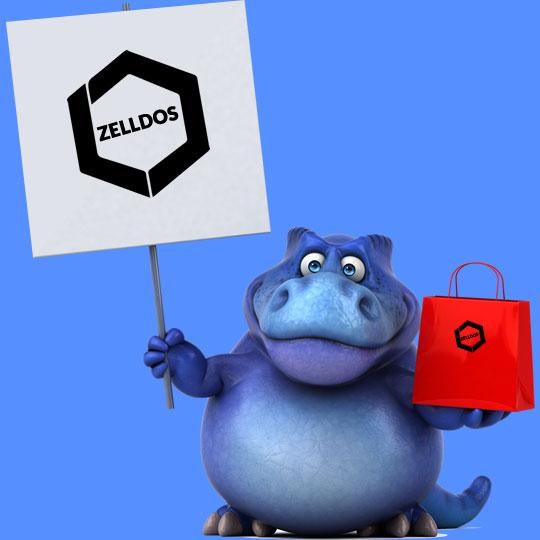Zelldos Dinosaur with Shopping Bag