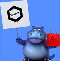 Zelldos Dinosaur with Shopping Bag - mini