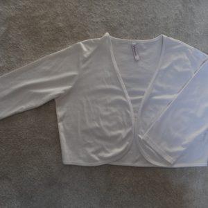 Women's White Bolero / Shrug size 16